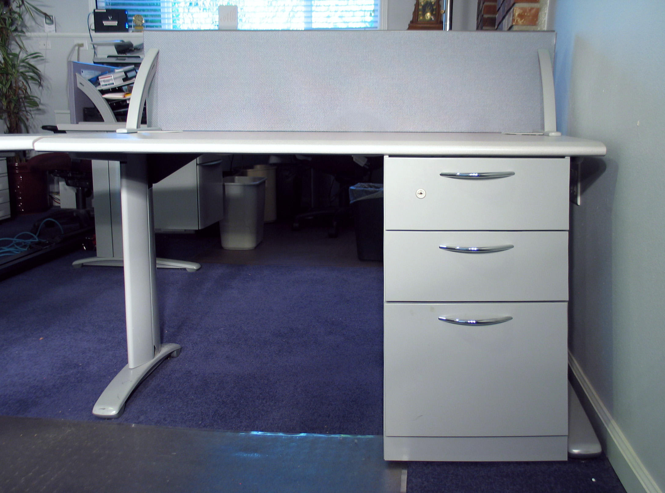Steelcase Desk 48 X 30 With Three File Drawers