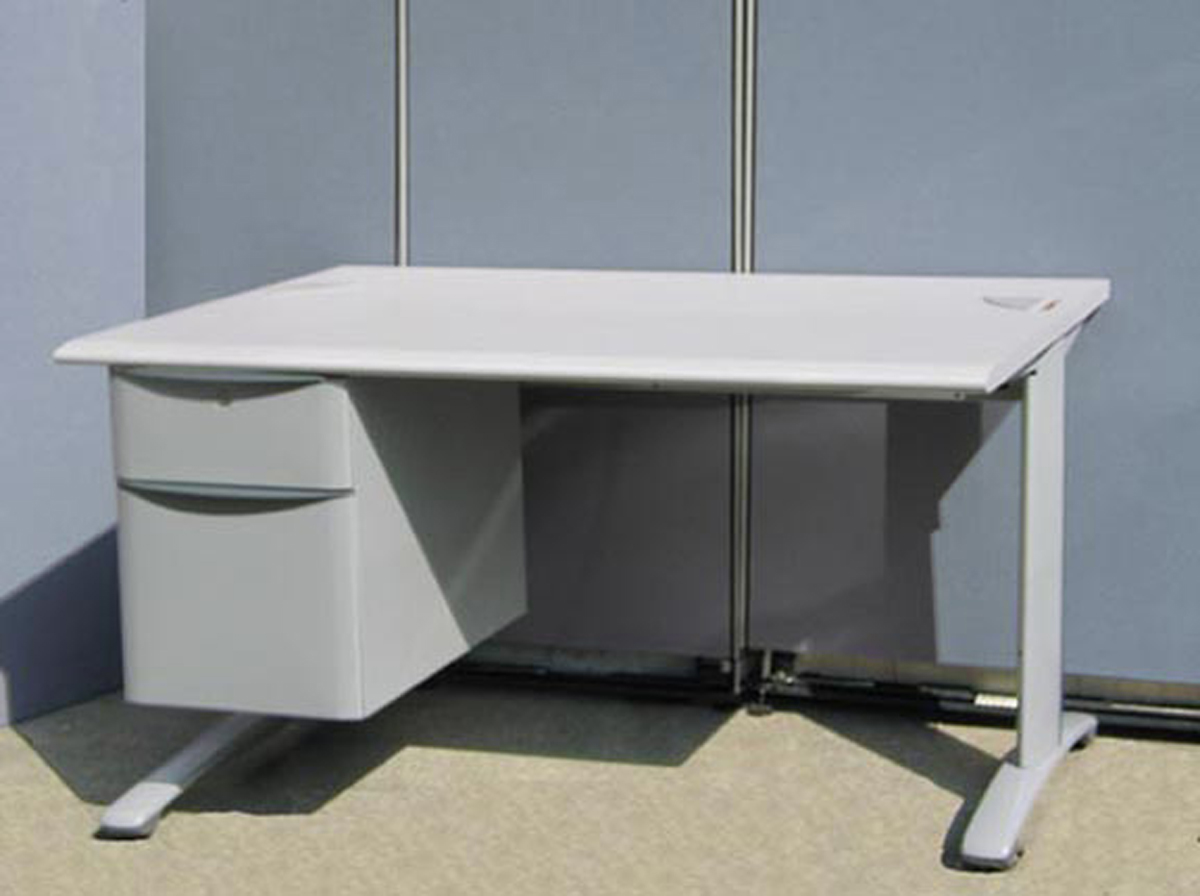 steelcase office desks - steelcase desk   x  with three file drawers